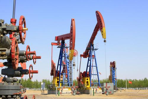Crude oil in storage amid massive oversupply