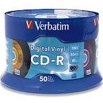 Verbatim Digital Vinyl CD-R Storage Media, 52x, 700 MB - 50 pack spindle