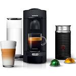 Nespresso De'Longhi VertuoPlus Coffee Maker and Espresso Machine with Aeroccino Milk Frother - Black Matte
