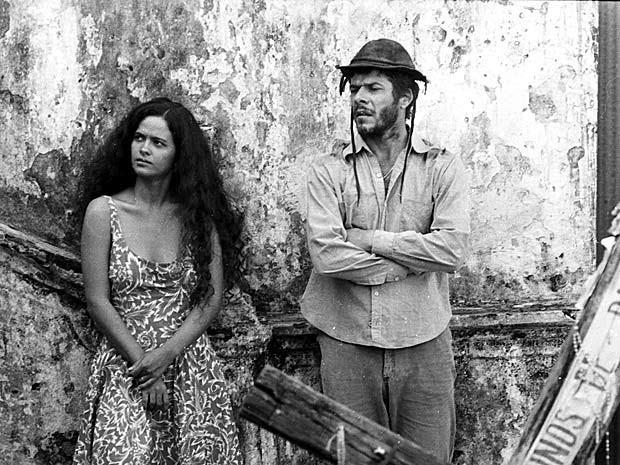 Denise Milfont e José Mayer como Rosa e Zé do Burro (Foto: CEDOC / TV Globo)
