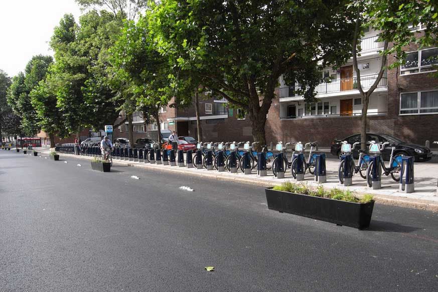 The new Royal College Street cycle track - image from Sustrans