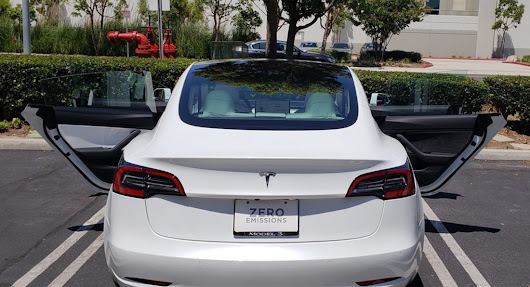 Tesla Model 3 Delivered With Three White Door Inserts - And One Brown | Carscoops