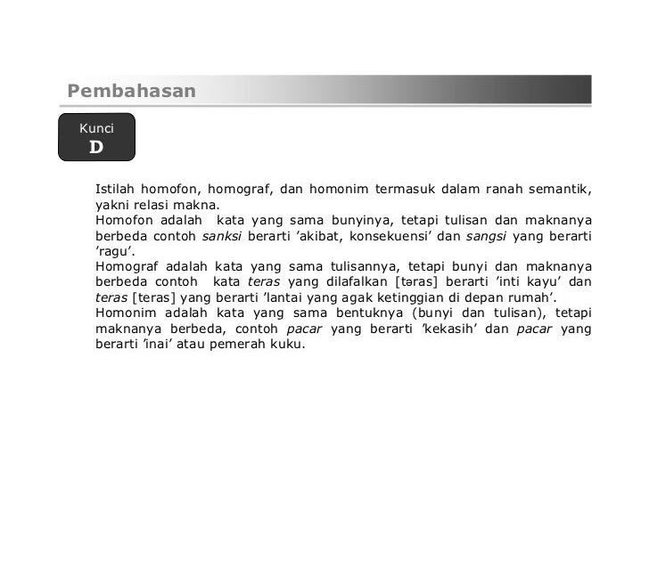 Contoh Tembung Homonim Dalam Bahasa Jawa Kontrak Omah