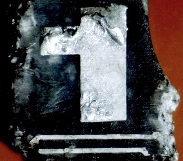 This photo shows a small fragment of a circuit timer, PT/35(b), that was allegedly found among the debris of Pan Am 103 near the town of Lockerbie after the 1988 crash. According to Richard Marquise, the FBI Agent who led the US side of the Lockerbie investigation, without PT/35(b), there would 'have been no indictment'. But it is claimed fresh forensic scrutiny has established the fragment was from a type of circuit-board not patented until 1991.
