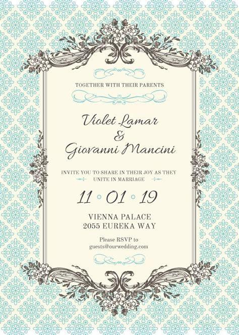 Wedding invitation card Invitation 5x7in template ? Design