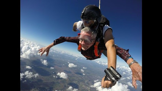 Titusville man celebrates 90th birthday by skydiving
