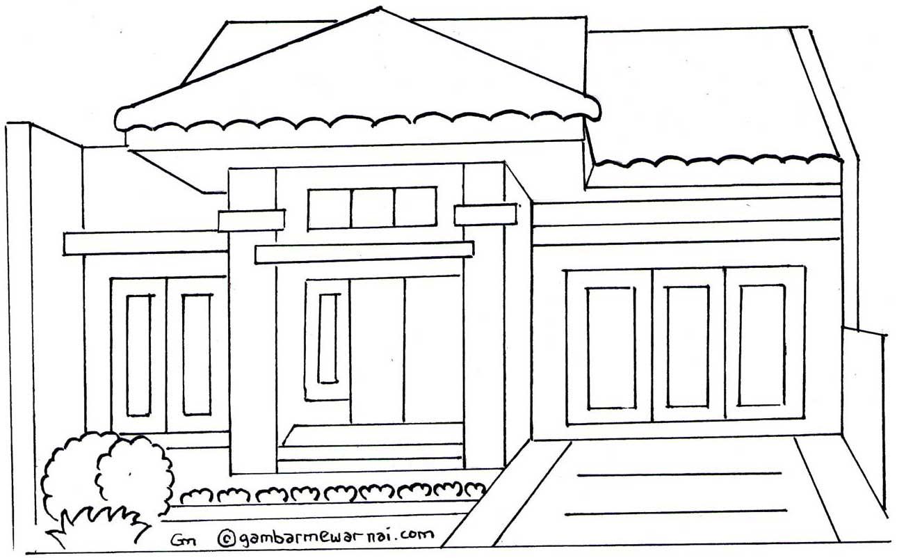 Model Rumah Mewah 2017 Sketsa Rumah Adat Betawi