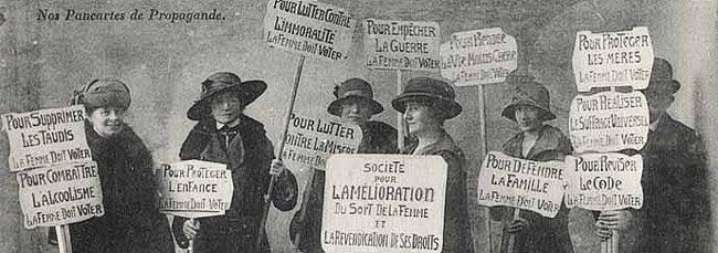 'Nos pancarte de propagande', París (1920).