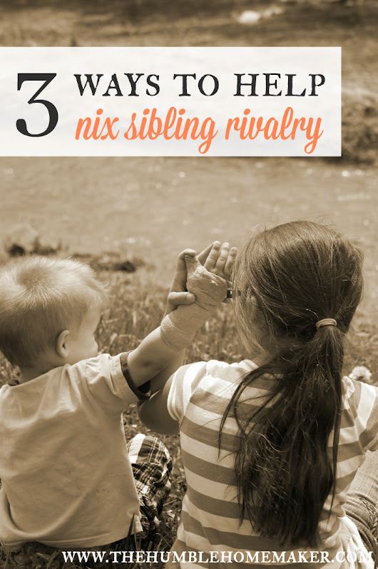 3 Ways to Help Nix Sibling Rivalry | The Humbled Homemaker