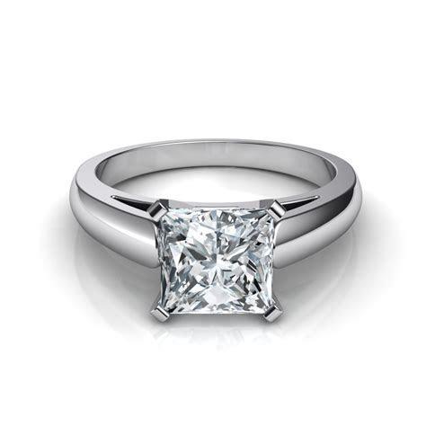 Cathedral Princess Cut Diamond Engagement Ring