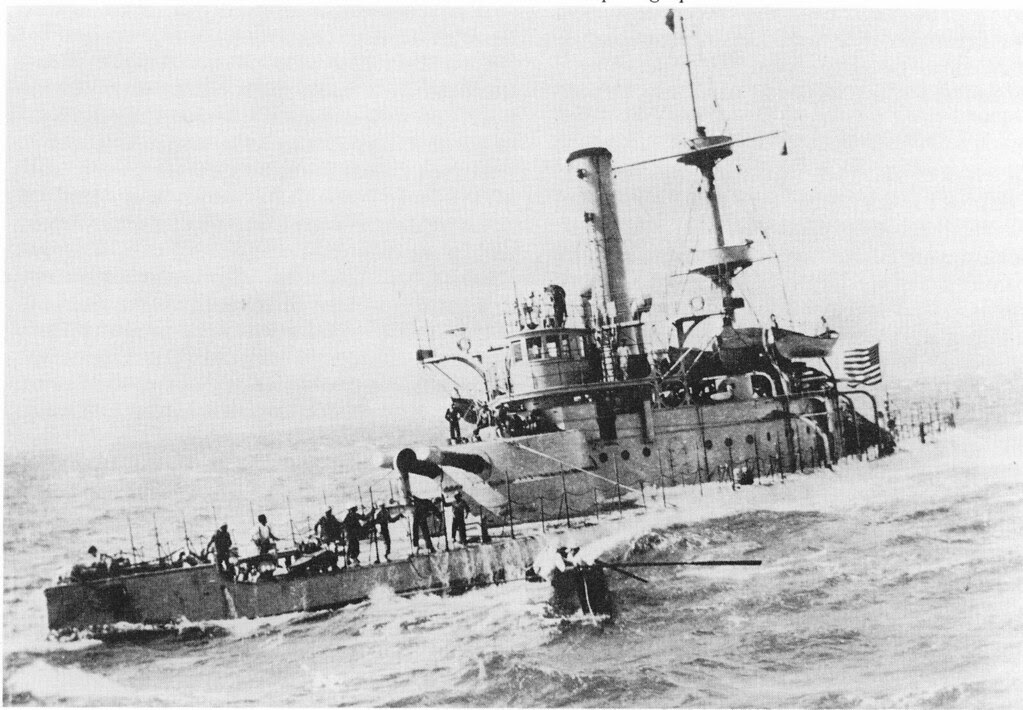 USS Monadnock crossing the Pacific