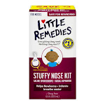 Little Noses Stuffy Nose Kit, Nasal Aspirator Plus Saline Spray/Drops - 1 Kit