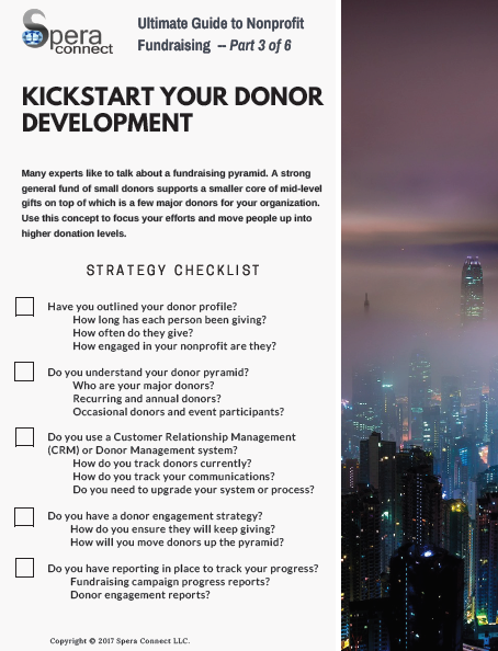 Nonprofit Fundraising Checklist – Part 3 of 6 - Spera Connect