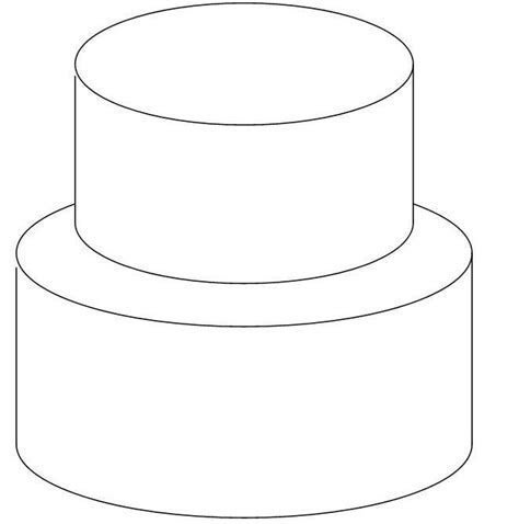 DIY tiered cake outline! Lots of room to sketch great