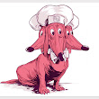 Cerberus, A 3-Headed Doggie Diner Head Illustration by Josh Ellingson