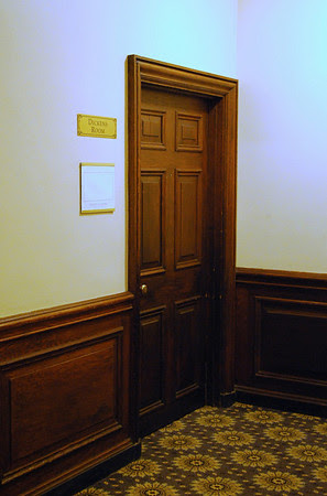 Doorway to the Dickens Room on the Mezzanine Level