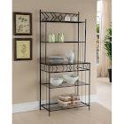 K&B Furniture K3022 Black Metal Storage Bakers Rack