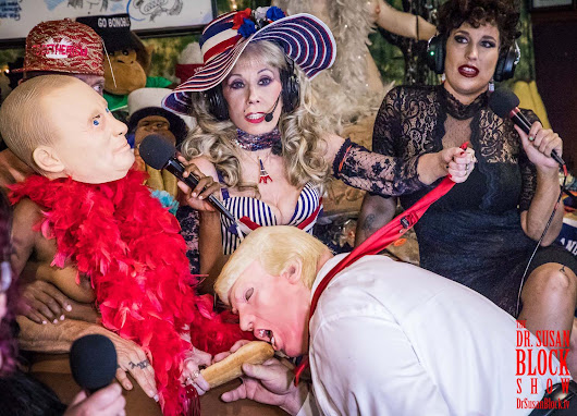 "Trump-Putin Cuckold Bromance Summit on ""Burlesque Bastille Day"" Now Playing on DrSuzy.Tv 