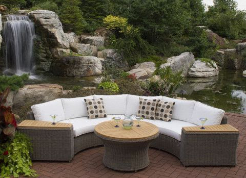 Barbados Wicker Outdoor Sectional Set