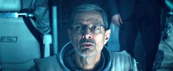 David Levinson (Jeff Goldblum) watches the carnage (off-screen) being wrought by an invading alien force in INDEPENDENCE DAY: RESURGENCE.