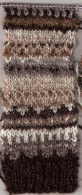 Fair Isle swatch from my Shetland yarns.