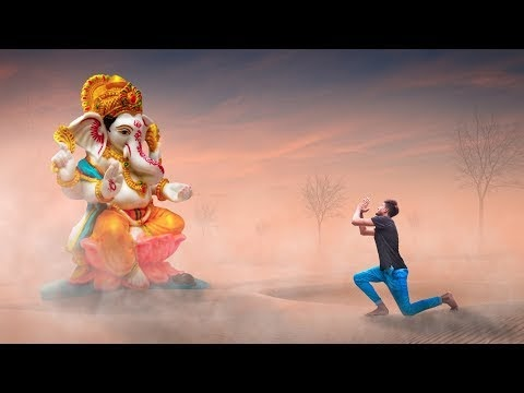 ganesh chaturthi Special Photoshop Manipualtion tutorial Poster Design