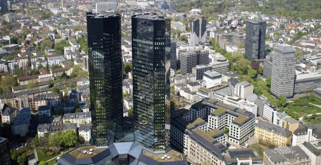 Vista de la sede de Deutsche Bank en Fráncfort. EFE/Christoph Schmidt