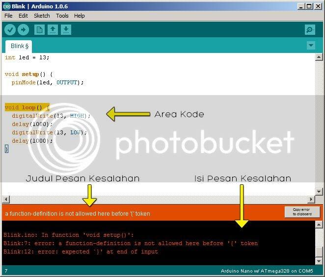 Mengatasi error pada koding arduino cyber code media