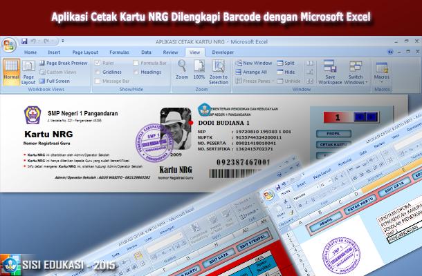 File Pendidikan Aplikasi Cetak Kartu Nrg Terbaru Dilengkapi Barcode Menggunakan Microsoft