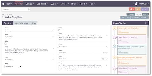 New User Interface in Suite8 - SuiteCRM