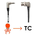 """Tentacle Sync Adapter Cable for Tentacle Timecode Generator to BNC Connector (Right Angle), 40cm/15.75"""" Length C08"""