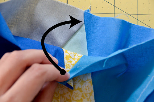 Step 13: Lay Your First & Second Row Right Sides Facing
