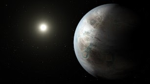 "On Thursday, July 23, NASA announced the discovery of Kepler-452b, ""Earth's bigger, older cousin."" This artistic concept shows what the planet might look like. Scientists can't tell yet whether Kepler-452b has oceans and continents like Earth."