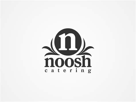 modern catering logo design  noosh catering