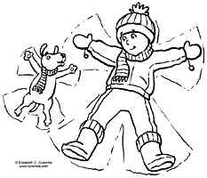 snow angel coloring page - dulemba coloring page tuesday snow angels
