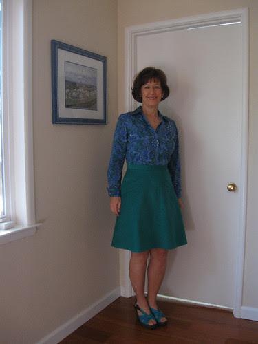 green cord skirt on me 2