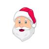 Artisticco, LLC - Santa Claus Emoji Stickers artwork