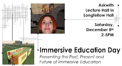 Top part of HIMG flyer for immersive education day at Harvard