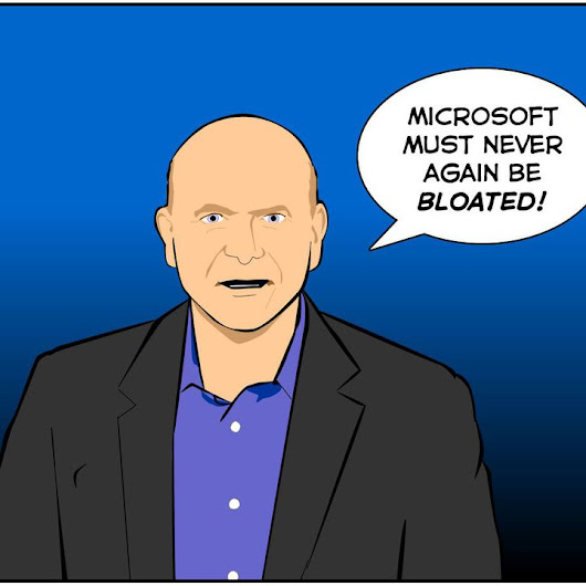 Microsoft CEO's 2,700 Word Memo Screams 'Efficiency' [SUNDAY COMIC]
