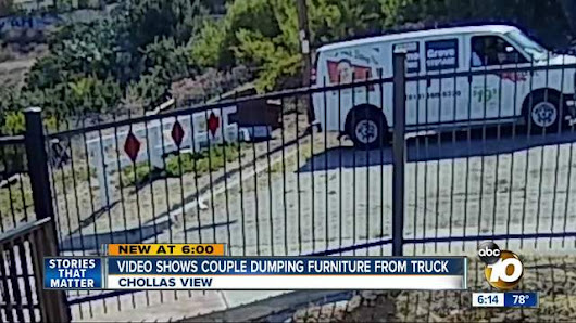 Caught on video: Couple dumps furniture in San Diego cul-de-sac