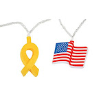 Camco 42657 Patriotic Yellow Ribbon And Flag Party Light