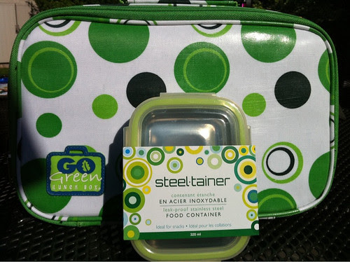 Go Green Lunch Bag and Steeltainer