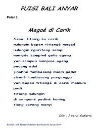 Unsur Intrinsik Puisi Bali Anyar
