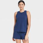 Women's Tank Top and Shorts Pajama Set - Stars Above Navy XXL