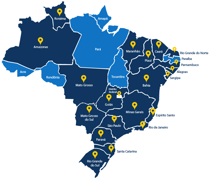 SINTEC's do Brasil nos Estados Brasileiros