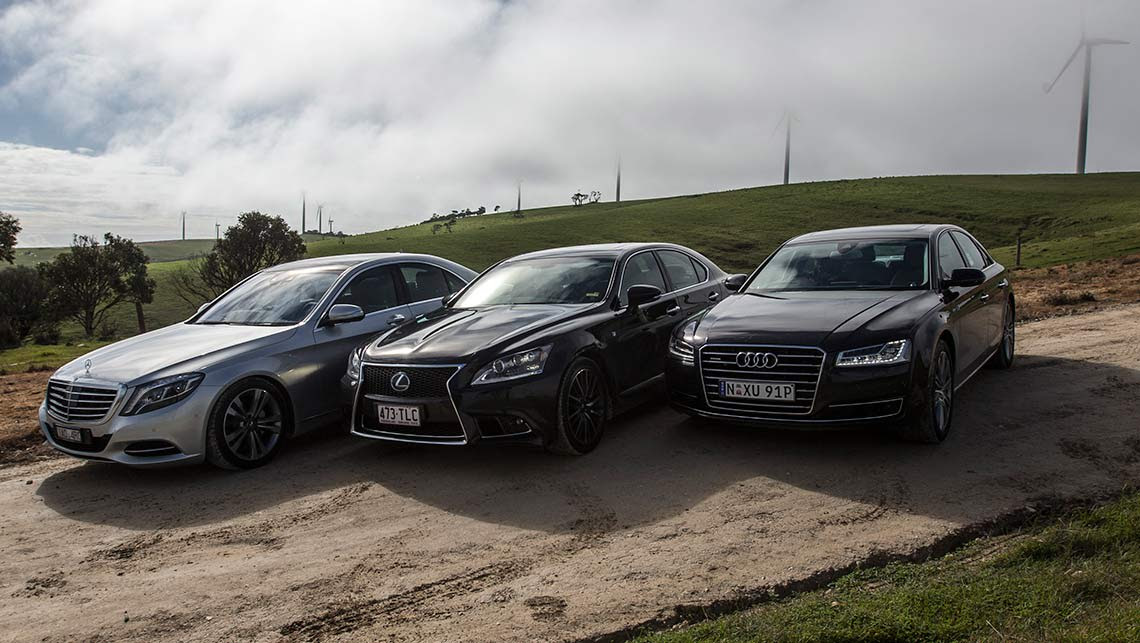 2014 Audi A8 vs Lexus LS vs Mercedes S-Class review ...