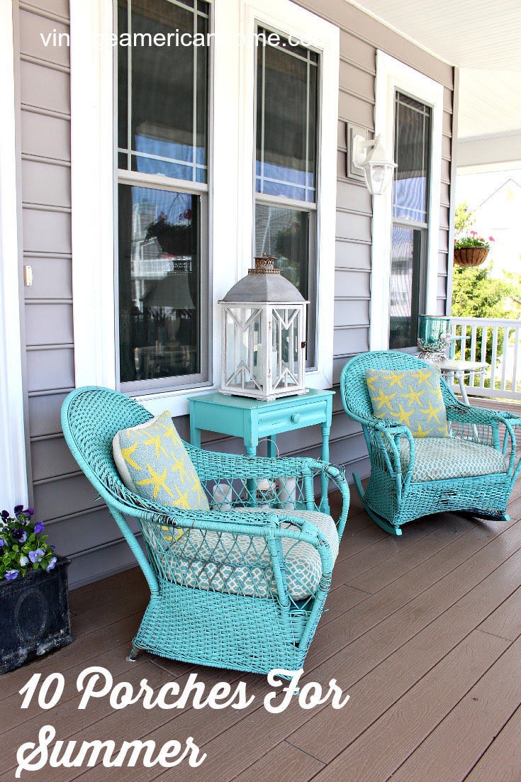 28 Front Porch Decorating Ideas - Vintage American Home