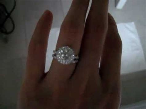 My 3.3ct Engagement Ring & Wedding Band !   YouTube