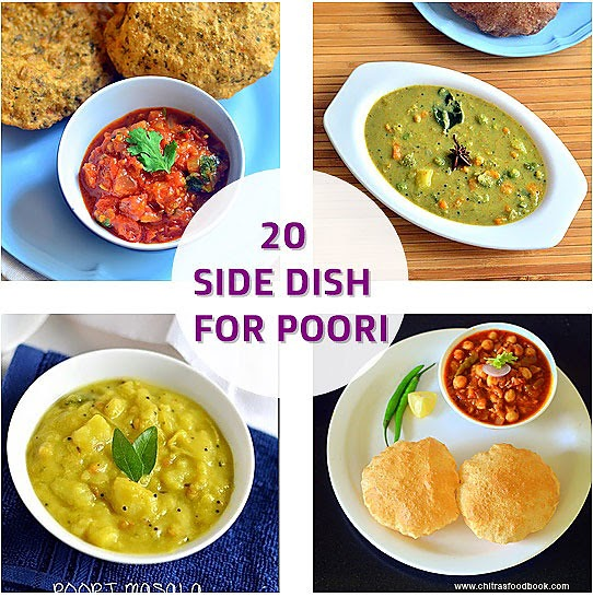 20 Side Dish For Poori Indian Vegetarian Side Dish For