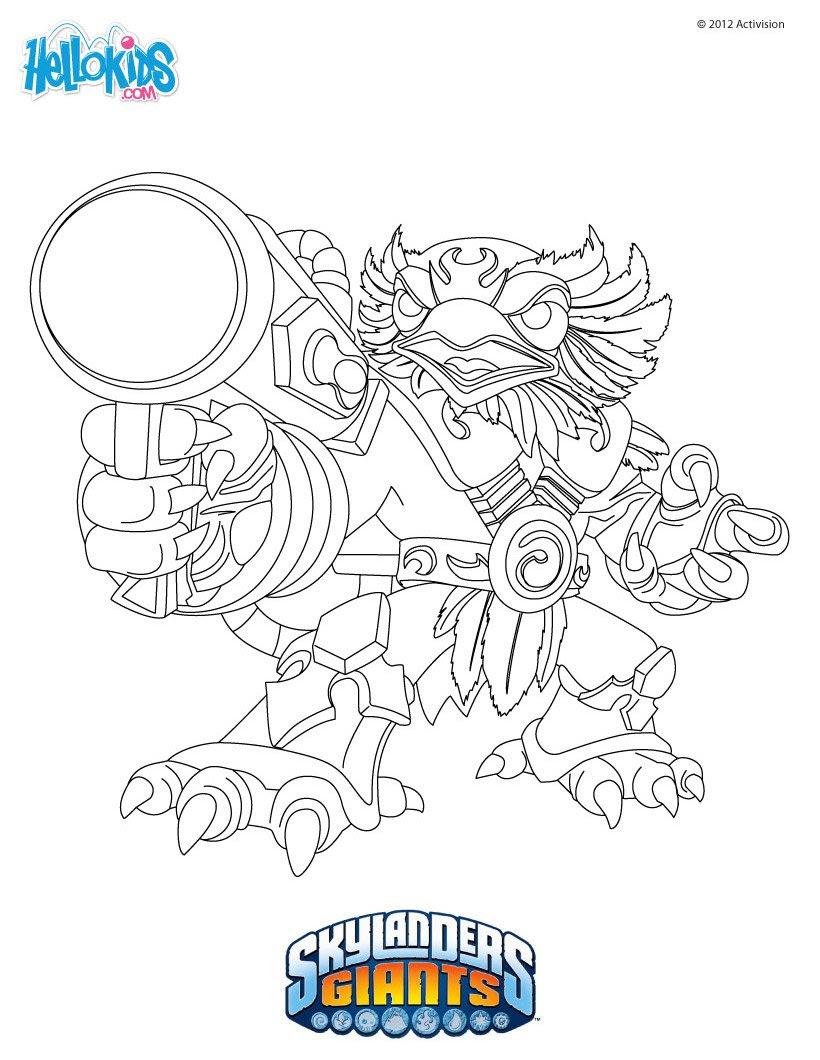 JETVAC Skylanders Giants zum Ausmalen Farben Drucken
